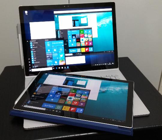 Surface Pro4の画面をSurface Bookにプロジェクション