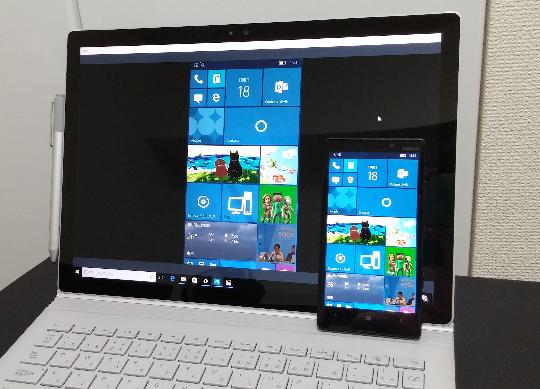 Windows 10 Mobileの画面をSurfaceにプロジェクションする