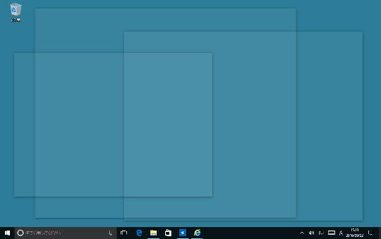 Windows 10のデスクトップ上に表示されているウィンドウをすべて透明化する方法