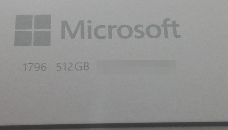 新Surface Pro(5th 2017)Core i7モデル デバイス情報