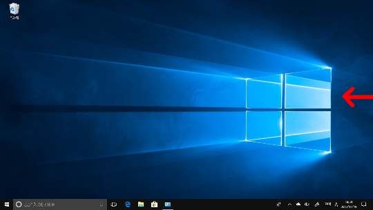 Windows 10 Fall Creators Updateの右エッジスワイプによる「アクションセンター」表示