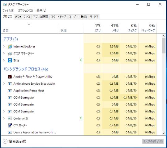 #Windows 10 Spring Creators Updateでタスクマネージャーを起動する方法