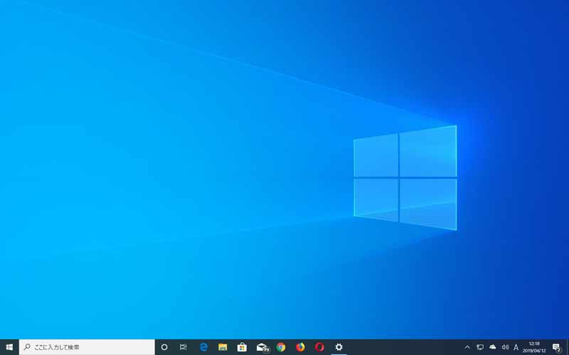 Windows 10 バージョン1903 ビルド18362デスクトップの様子