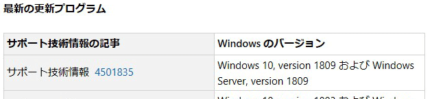 しっかりしろ、MS!! Windows 10 バージョン1809については近日対応